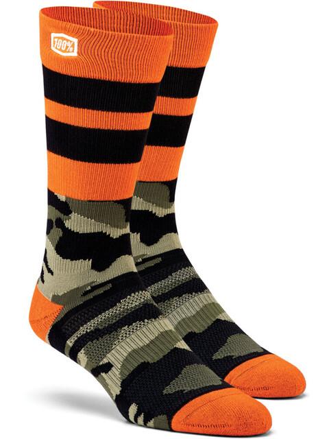 100% Troop Athletic Socks camo black/green